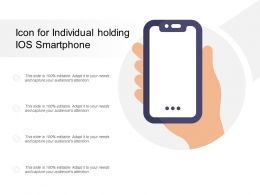 Icon For Individual Holding IOS Smartphone