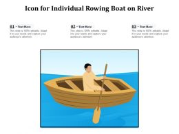 Icon For Individual Rowing Boat On River