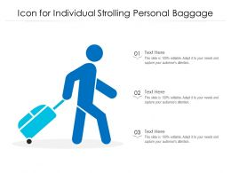 Icon For Individual Strolling Personal Baggage