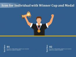 Icon For Individual With Winner Cup And Medal
