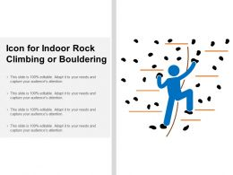 Icon For Indoor Rock Climbing Or Bouldering