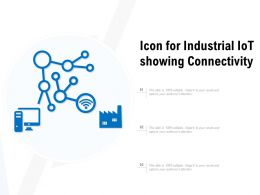 Icon For Industrial Iot Showing Connectivity