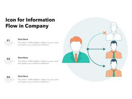 Icon For Information Flow In Company