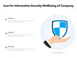 Icon For Information Security Wellbeing Of Company