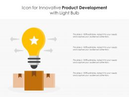 Icon For Innovative Product Development With Light Bulb