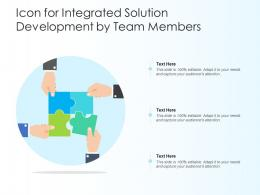 Icon For Integrated Solution Development By Team Members