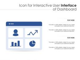 Icon For Interactive User Interface Of Dashboard