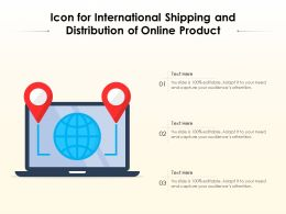 Icon For International Shipping And Distribution Of Online Product