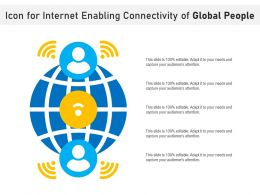 Icon For Internet Enabling Connectivity Of Global People