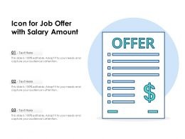 Icon For Job Offer With Salary Amount