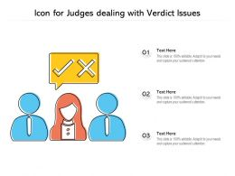 Icon For Judges Dealing With Verdict Issues