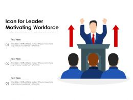 Icon For Leader Motivating Workforce