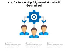 Icon For Leadership Alignment Model With Gear Wheel