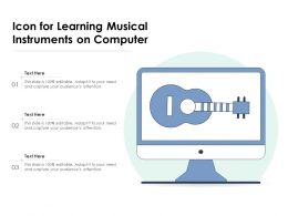 Icon For Learning Musical Instruments On Computer