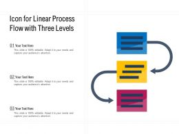 Icon For Linear Process Flow With Three Levels