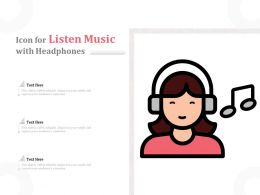 Icon For Listen Music With Headphones