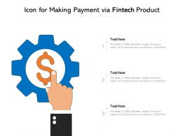 Icon For Making Payment Via Fintech Product