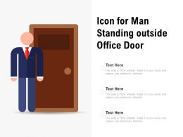 Icon For Man Standing Outside Office Door