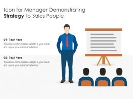 Icon For Manager Demonstrating Strategy To Sales People