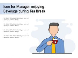 Icon For Manager Enjoying Beverage During Tea Break