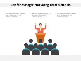 Icon For Manager Motivating Team Members