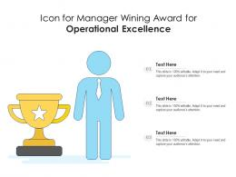 Icon For Manager Wining Award For Operational Excellence