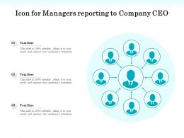 Icon For Managers Reporting To Company CEO