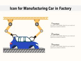 Icon For Manufacturing Car In Factory