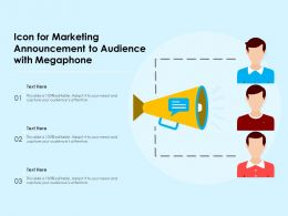 Icon For Marketing Announcement To Audience With Megaphone