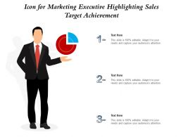 Icon For Marketing Executive Highlighting Sales Target Achievement