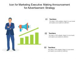 Icon For Marketing Executive Making Announcement For Advertisement Strategy