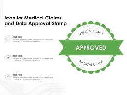 Icon For Medical Claims And Data Approval Stamp