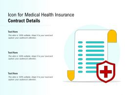 Icon For Medical Health Insurance Contract Details