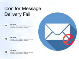 Icon For Message Delivery Fail