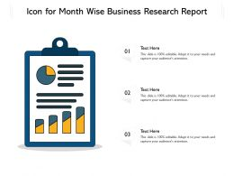 Icon For Month Wise Business Research Report