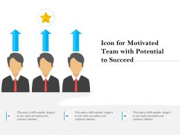 Icon For Motivated Team With Potential To Succeed