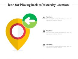 Icon For Moving Back To Yesterday Location