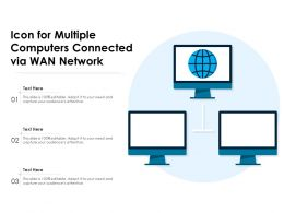 Icon For Multiple Computers Connected Via WAN Network