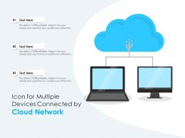 Icon For Multiple Devices Connected By Cloud Network