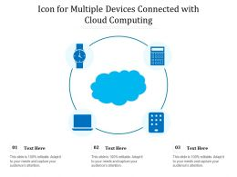 Icon For Multiple Devices Connected With Cloud Computing