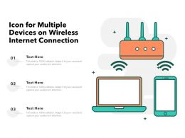Icon For Multiple Devices On Wireless Internet Connection