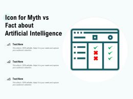 Icon For Myth Vs Fact About Artificial Intelligence