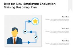 Icon For New Employee Induction Training Roadmap Plan