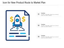 Icon For New Product Route To Market Plan