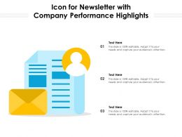 Icon For Newsletter With Company Performance Highlights