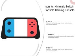 Icon For Nintendo Switch Portable Gaming Console
