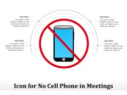 Icon For No Cell Phone In Meetings