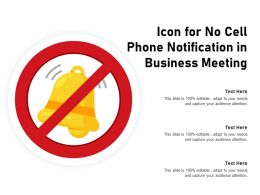 Icon For No Cell Phone Notification In Business Meeting