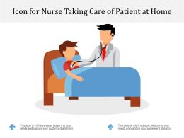 Icon For Nurse Taking Care Of Patient At Home
