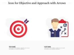 Icon For Objective And Approach With Arrows
